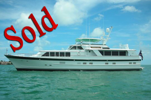 1987 86 burger raised pilothouse motor yacht, lease, sale, florida